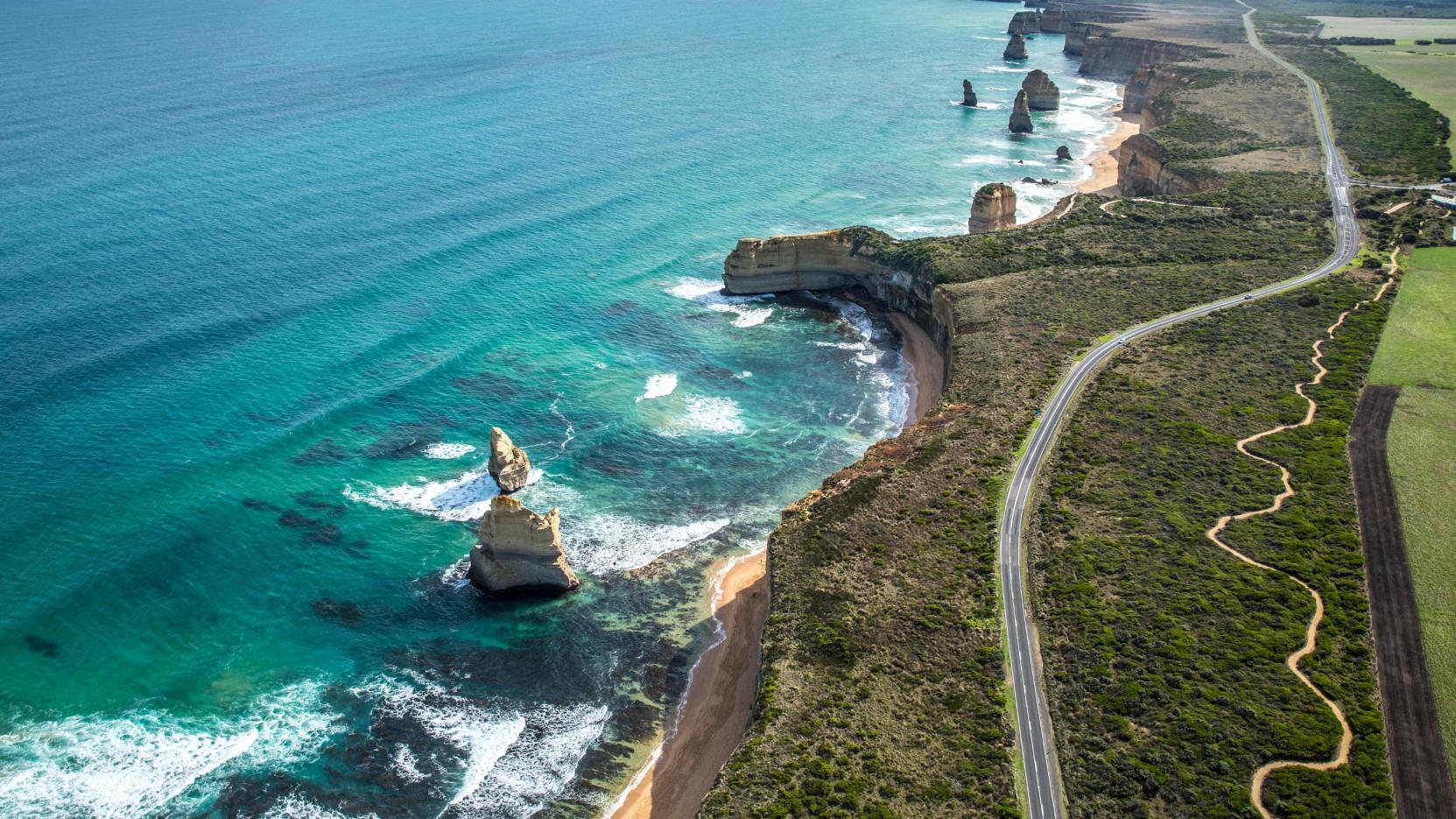 Destination touristique en Australie: Great Ocean Road.