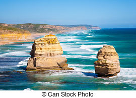 Stock Images of The Twelve Apostles by the Great Ocean Road in.