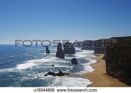 Stock Images of Twelve Apostles, Great Ocean Road, Australia.