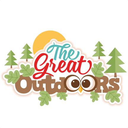 The Great Outdoors Title SVG scrapbook cut file cute clipart files.