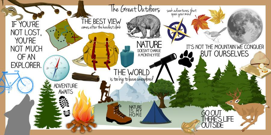 Great Outdoors Clipart (40 pcs.).