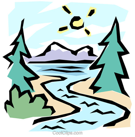 The great outdoors Royalty Free Vector Clip Art illustration.