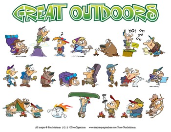 The Great Outdoors Cartoon Clipart.