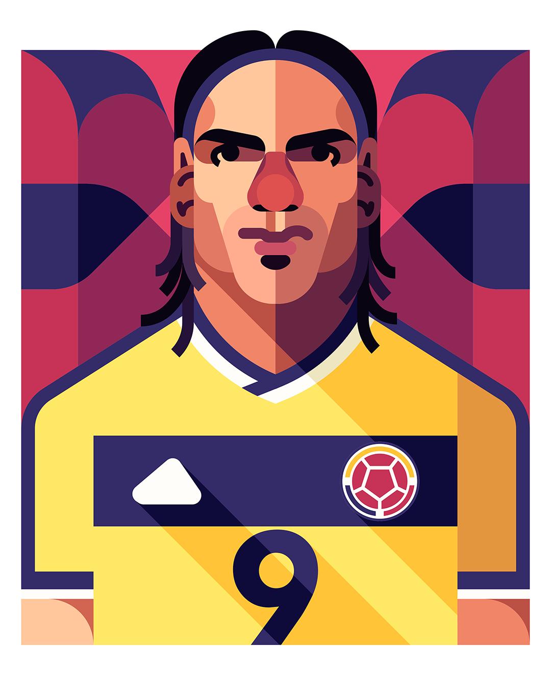 Football Players Vector Illustrations by Daniel Nyari.