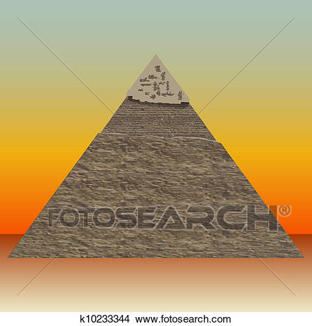 Great Pyramid of illustrations Clipart.