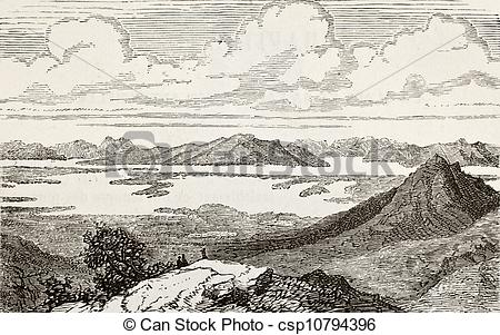 Stock Illustration of Great Salt Lake.