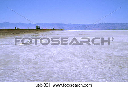 Stock Photography of Empty Great Salt Lake Desert Utah USA usb.