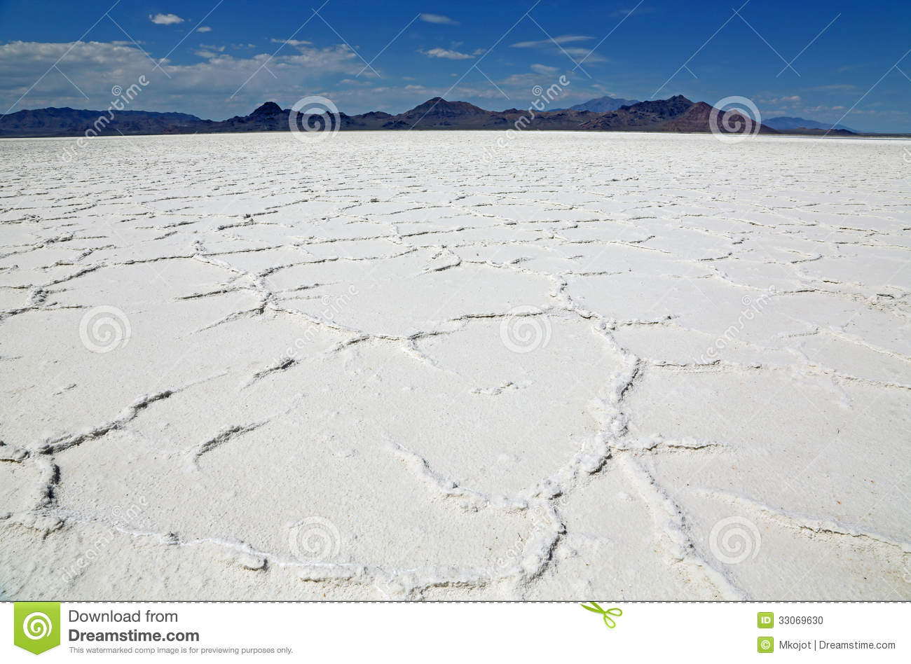 Great Salt Lake Desert From Frog's Perspective Stock Photo.