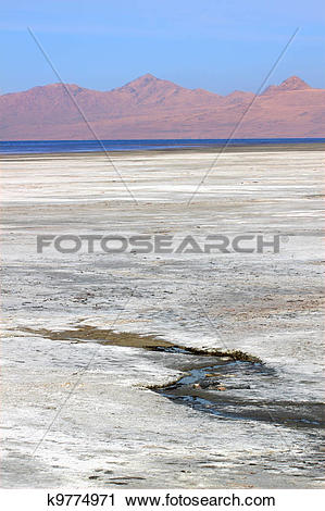 Stock Photography of Great Salt Lake of Utah k9774971.