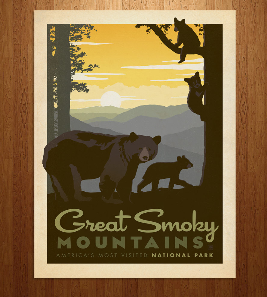 Great Smoky Mountains National Park Clip Art.