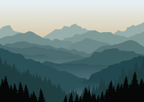 Smoky mountain clipart.