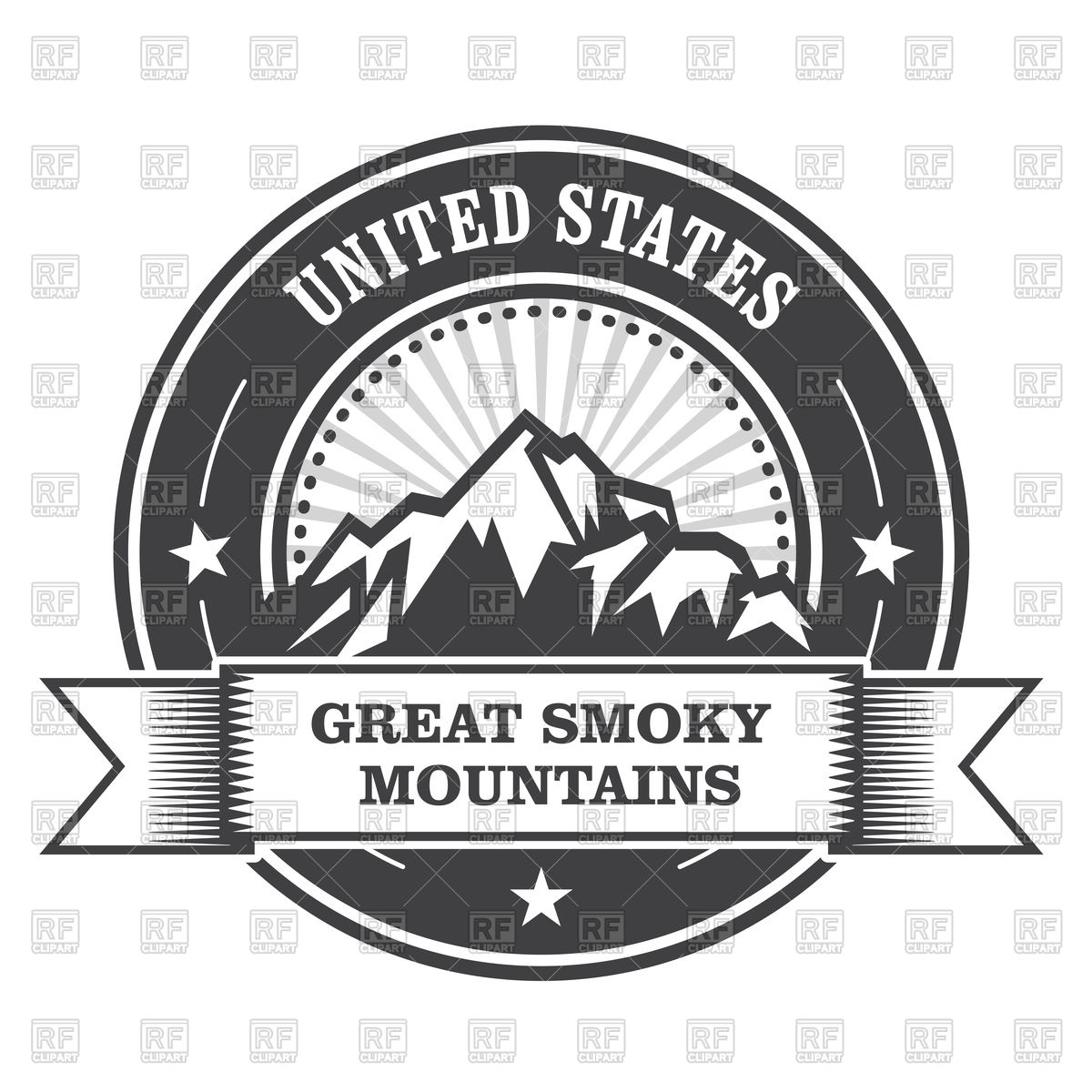 Great Smoky Mountains stamp.