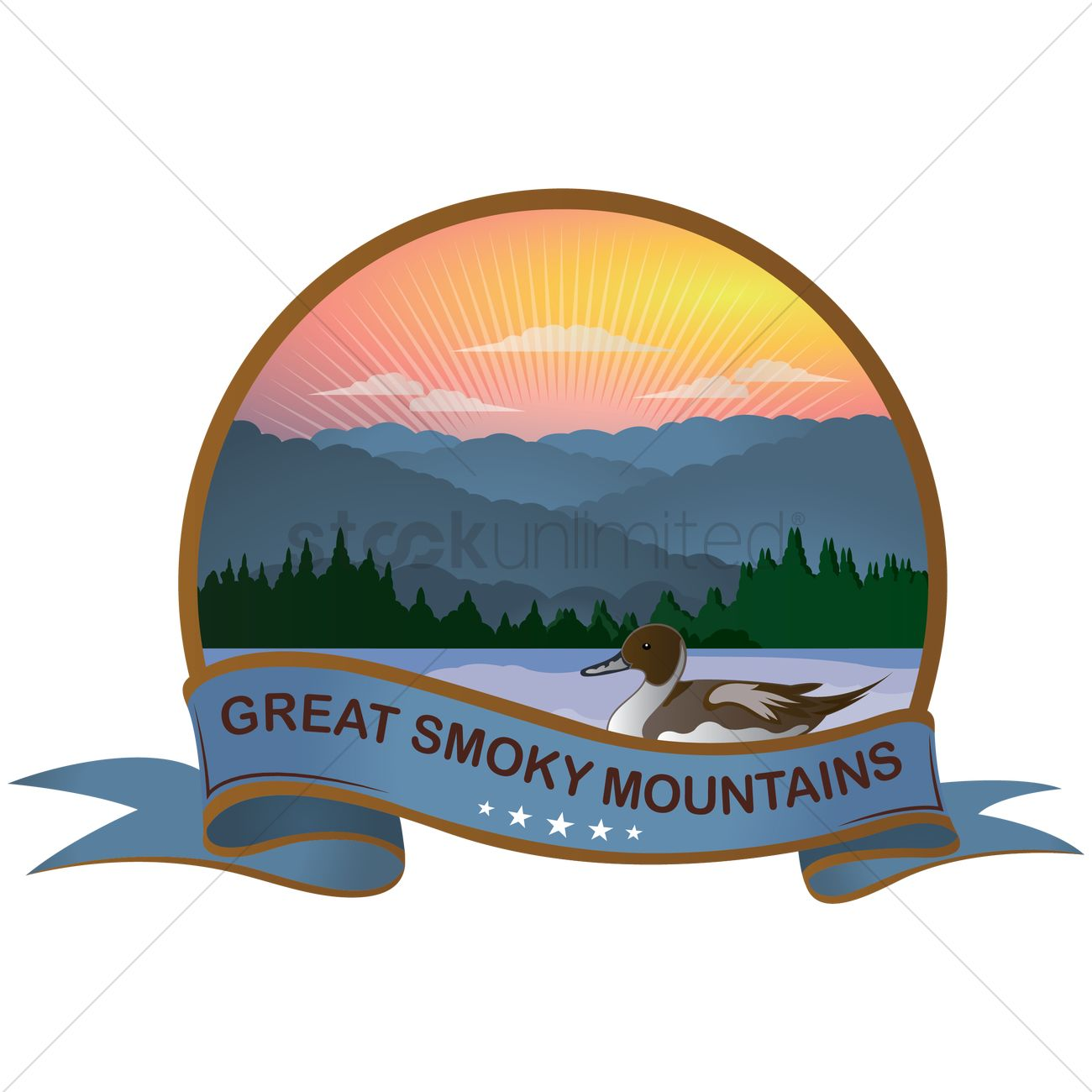 Great smoky mountains Vector Image.