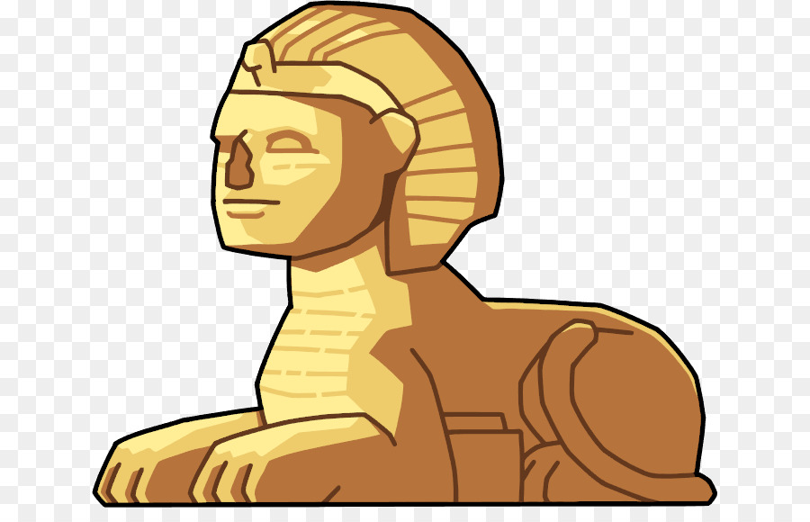Great Sphinx Of Giza Head png download.