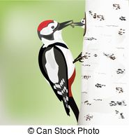 Great spotted woodpecker Vector Clipart Royalty Free. 6 Great.