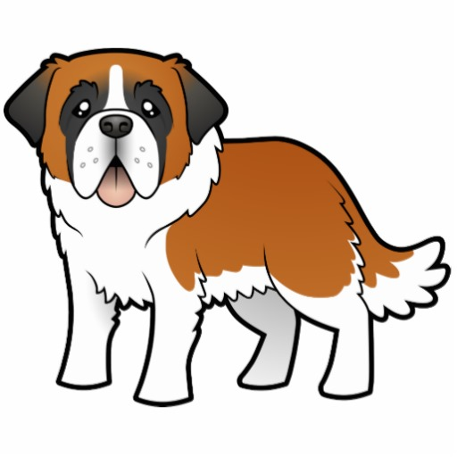 St Bernard Cartoon.