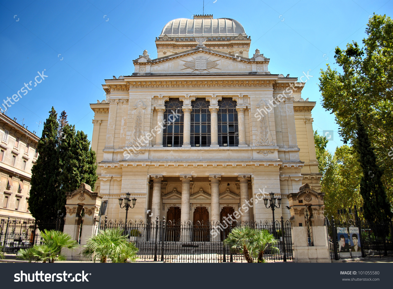 Great Synagogue Rome Stock Photo 101055580.