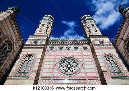Stock Images of The Great Synagogue. Budapest, Hungary k12183376.