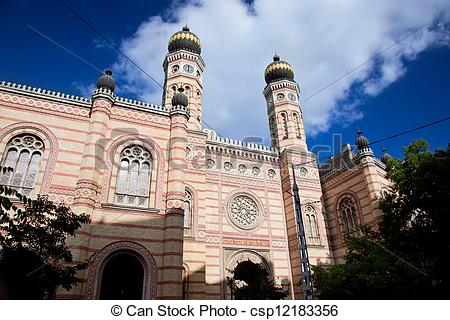 Stock Images of The Great Synagogue. Budapest, Hungary.