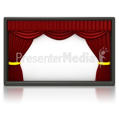 Theater Stage Clipart.