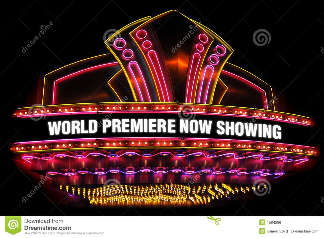 Movie Theatre Marquee Clipart.