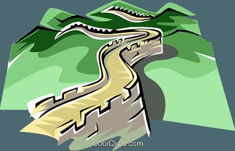 Great wall china clipart #19
