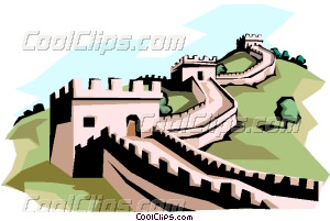 The Great Wall of China Vector Clip art.