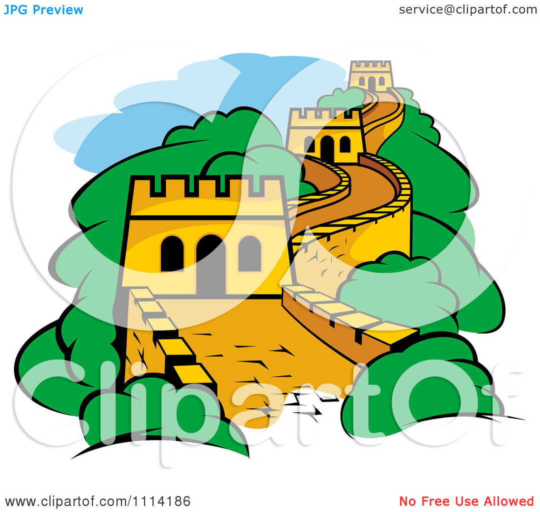 Fort great wall of china clipart.