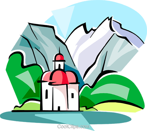 Watzmann Mountain Royalty Free Vector Clip Art illustration.