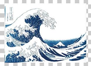 The Great Wave off Kanagawa Circle Wind wave Drawing, circle.