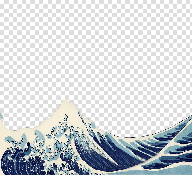 The Great Wave off Kanagawa Japan Desktop Art Printmaking.