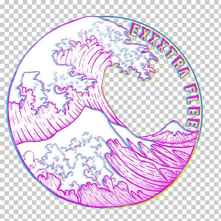 The Great Wave off Kanagawa Circle Wind wave Drawing, circle.