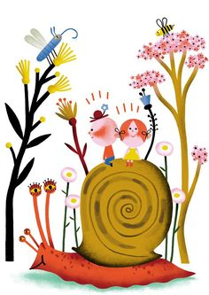 Books for children, Coloring books and Snails on Pinterest.