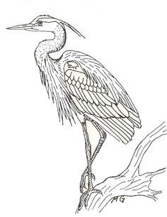how to draw a flying crane