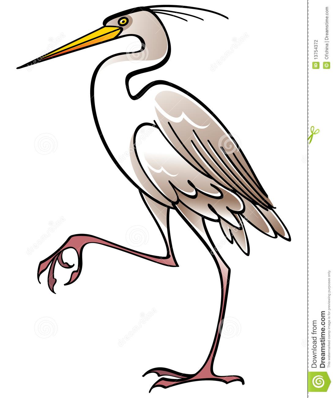 Heron Clipart.
