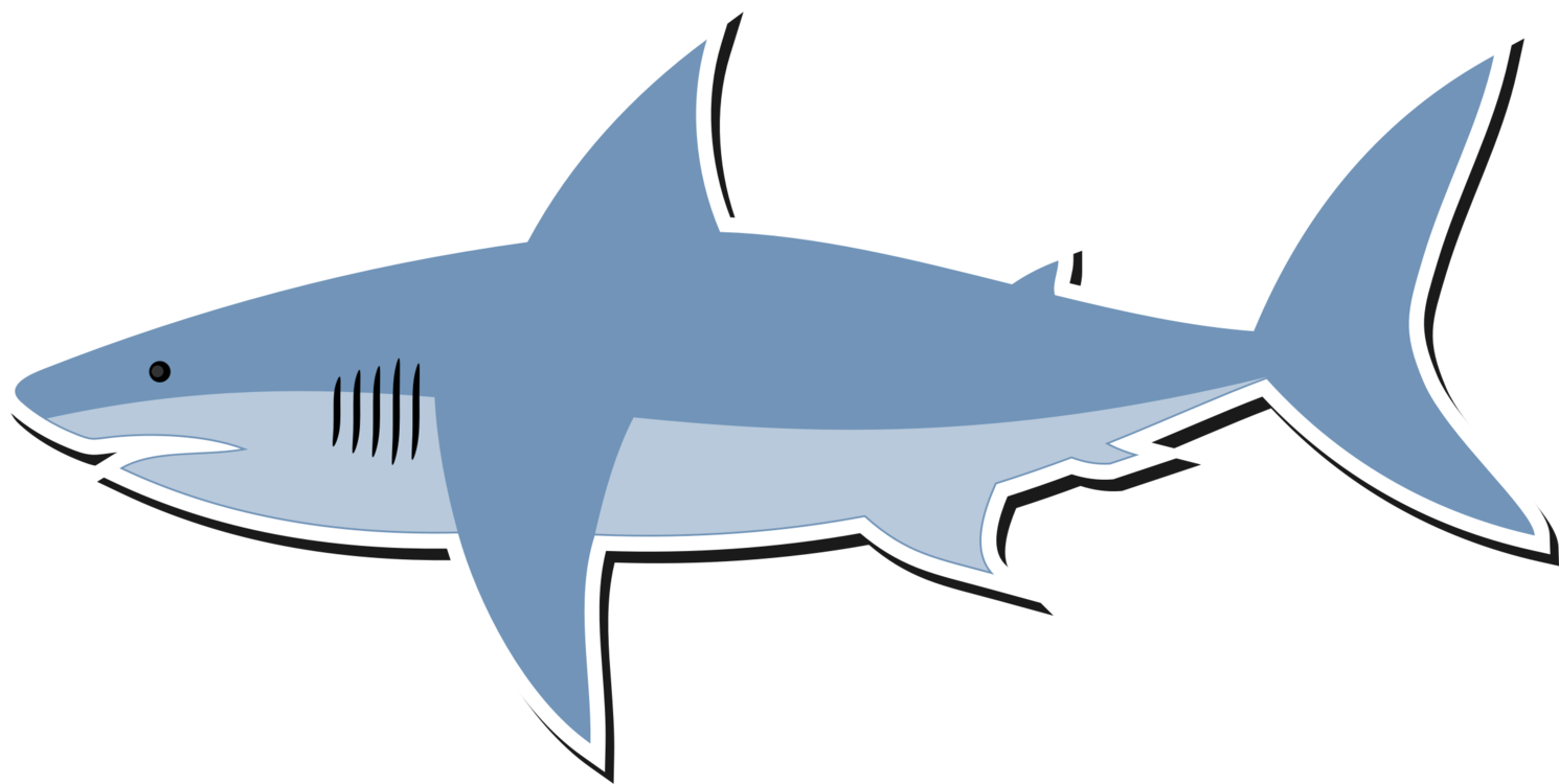 Cartoon great white sharks clipart images gallery for free download.
