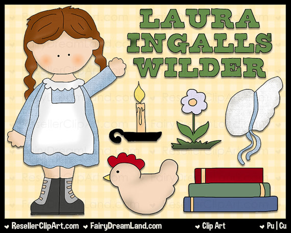 Laura Ingalls Wilder Digital Clip Art by ResellerClipArt on Etsy.