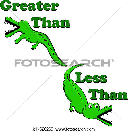 Stock Illustration of Greater than less than alligators k17620269.