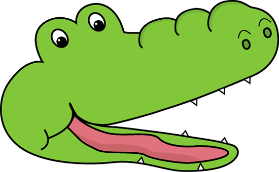 Alligator greater than clip art.