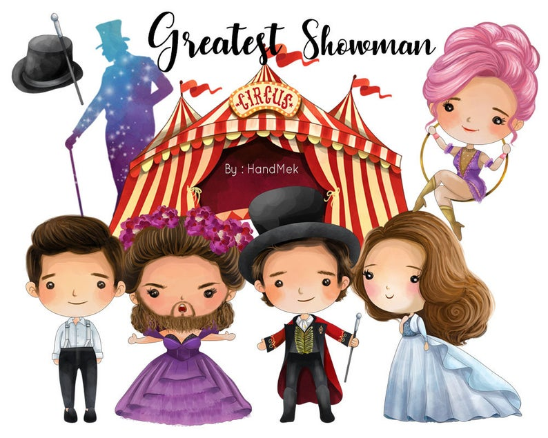 Greatest Showman clipart, Instant Download,PNG file.