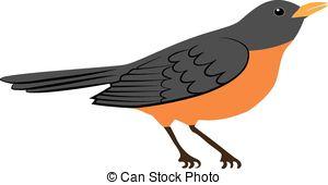 Robin bird Clip Art Vector Graphics. 1,121 Robin bird EPS clipart.