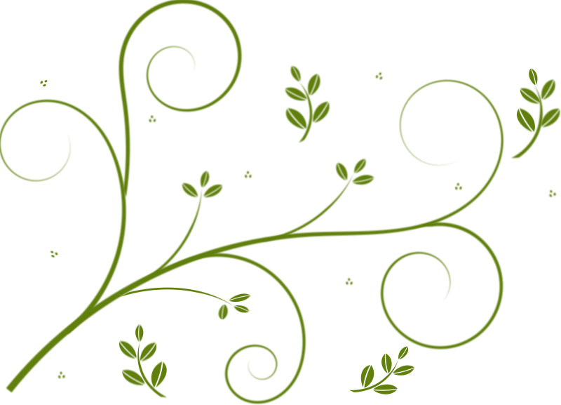 Free Clipart: Winding lines and leaves.