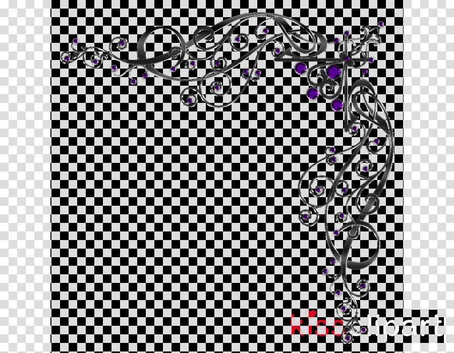 Black And White Flower clipart.