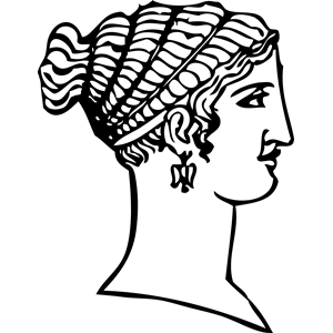 Grecian hairdressing 13 clipart, cliparts of Grecian hairdressing.