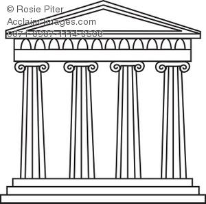 greek temple clipart #9