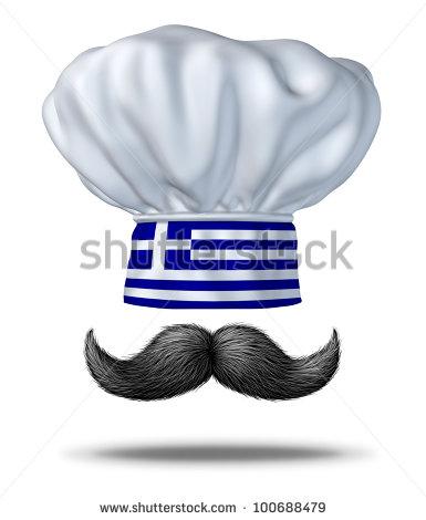 Greek Cooking Food Greece Chef Hat Stock Illustration 100688479.