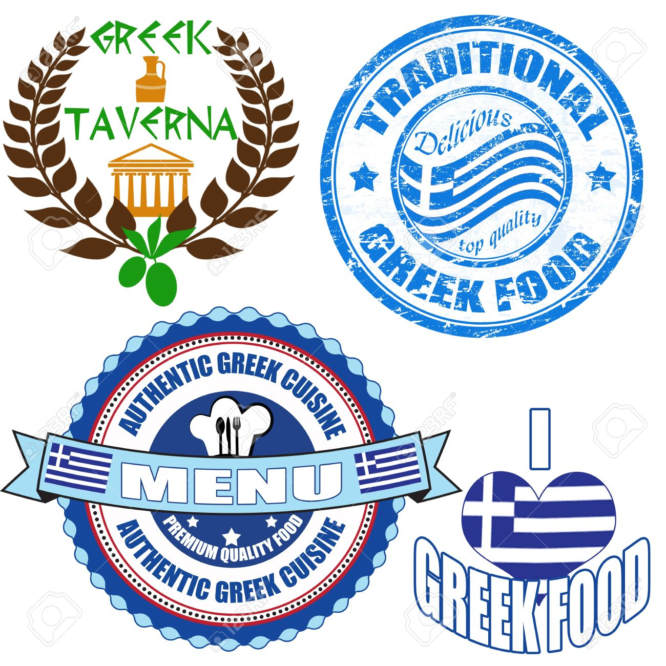 1,920 Greek Food Stock Illustrations, Cliparts And Royalty Free.