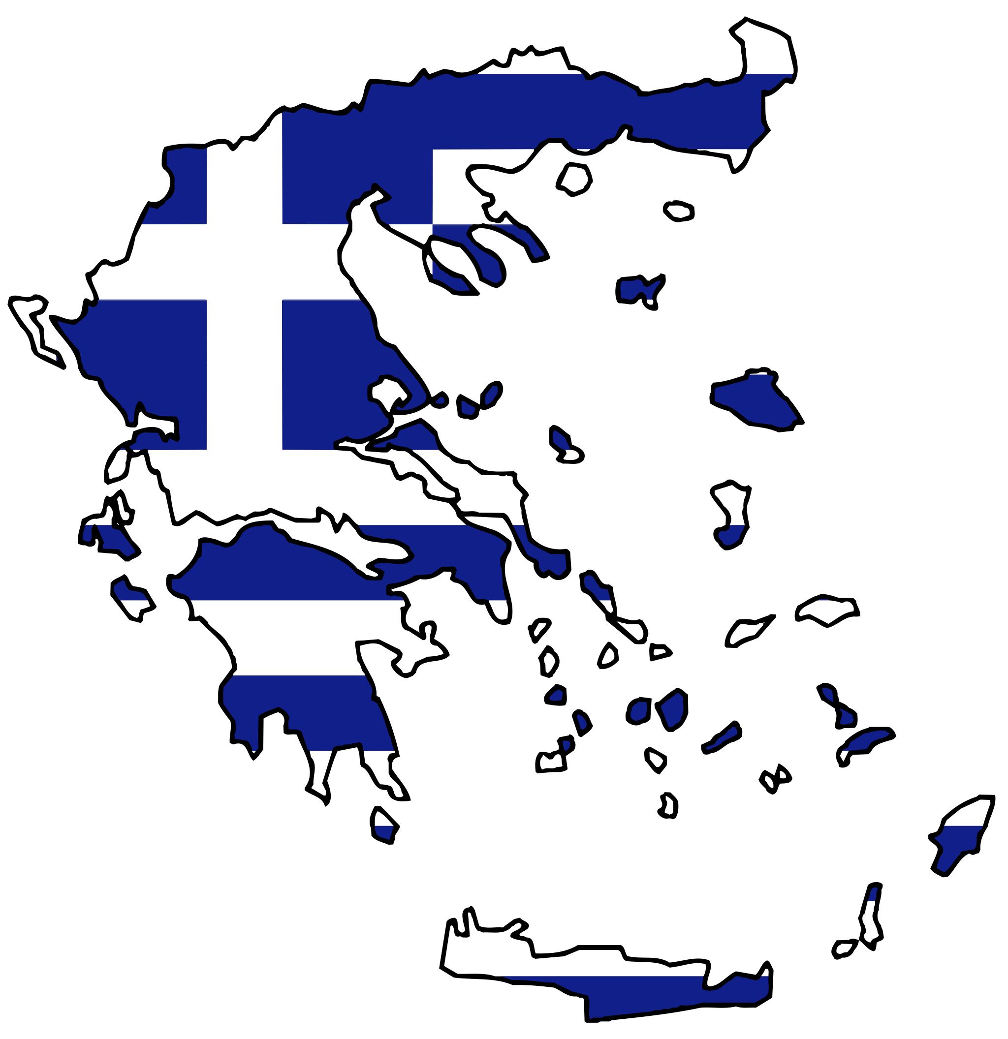 Greece Flag Map • Mapsof.net.