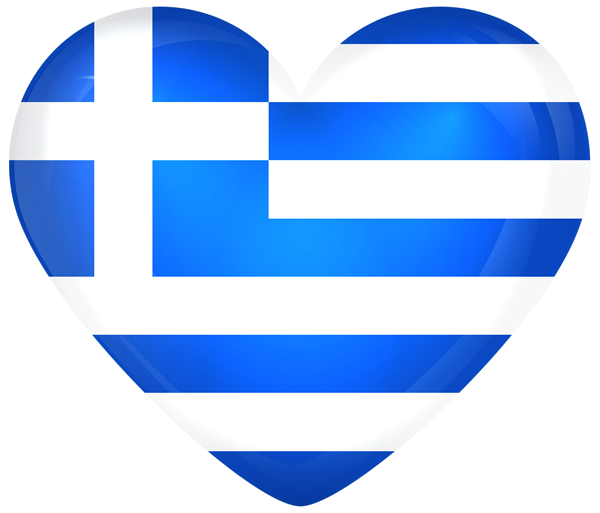 Greece Large Heart Flag.