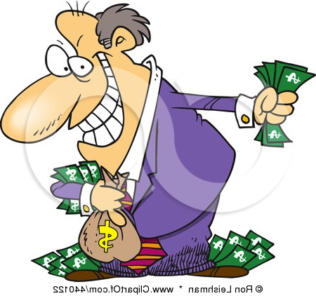 Greedy Person Clipart.